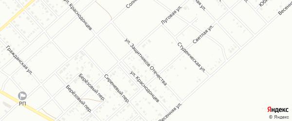 Улица Защитников Отечества на карте Белорецка с номерами домов