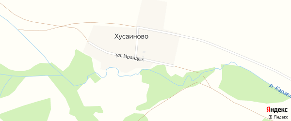 Улица Шаяхмета Батталова на карте деревни Хусаиново с номерами домов