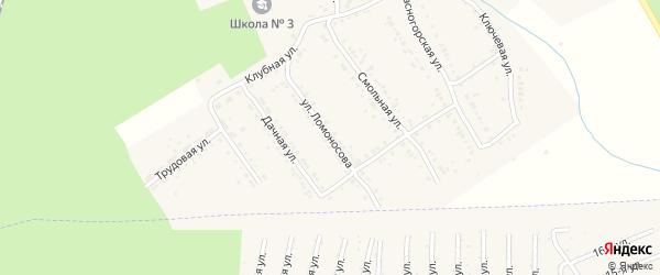 Улица Ломоносова на карте Юрюзани с номерами домов