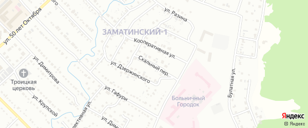 Скальный переулок на карте Белорецка с номерами домов