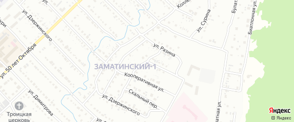Улица Твердышева на карте Белорецка с номерами домов