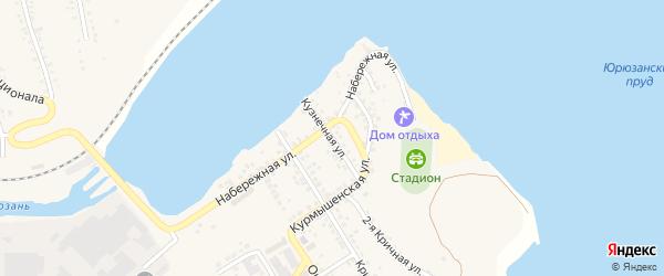 Кузнечная улица на карте Юрюзани с номерами домов