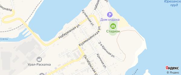 Курмышенская улица на карте Юрюзани с номерами домов