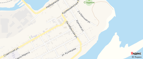 Октябрьская улица на карте Юрюзани с номерами домов