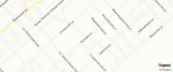 Луговая улица на карте Белорецка с номерами домов