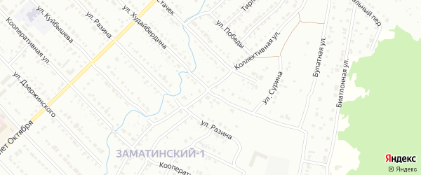Коллективная улица на карте Белорецка с номерами домов