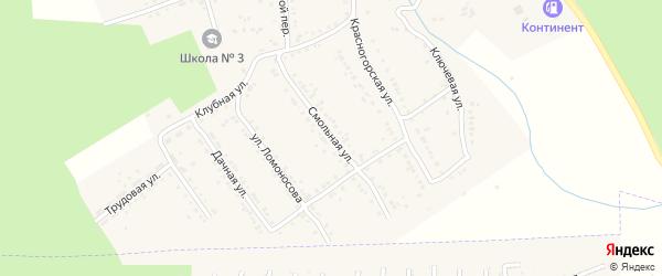Смольная улица на карте Юрюзани с номерами домов