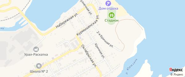 Кричная улица на карте Юрюзани с номерами домов