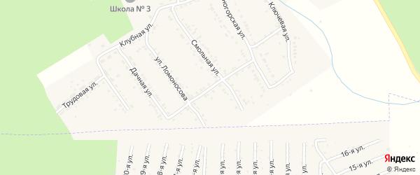 Улица Горького на карте Юрюзани с номерами домов
