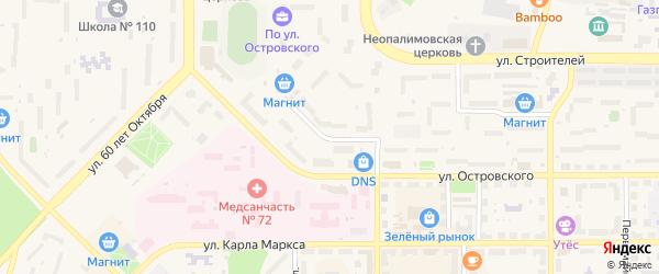 Улица Прохача на карте Трехгорного с номерами домов
