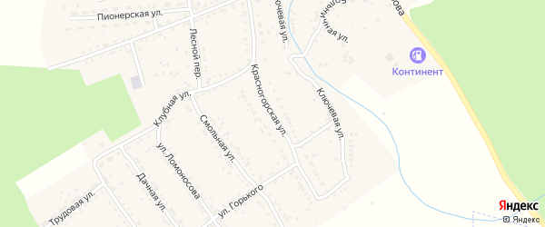 Красногорская улица на карте Юрюзани с номерами домов