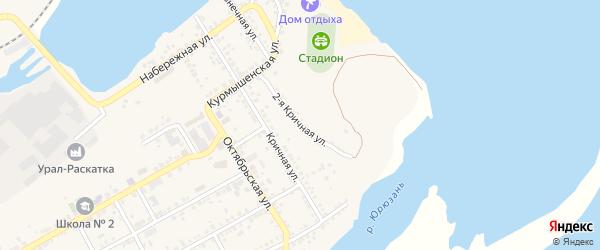Кричная 2-я улица на карте Юрюзани с номерами домов