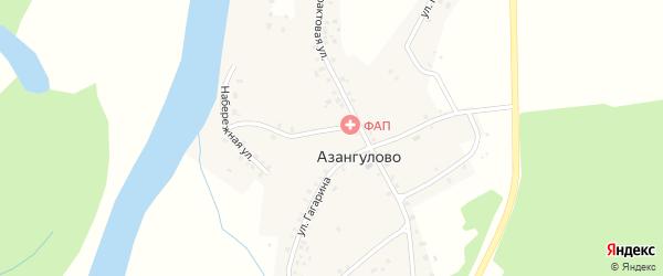 Улица Гагарина на карте деревни Азангулово с номерами домов