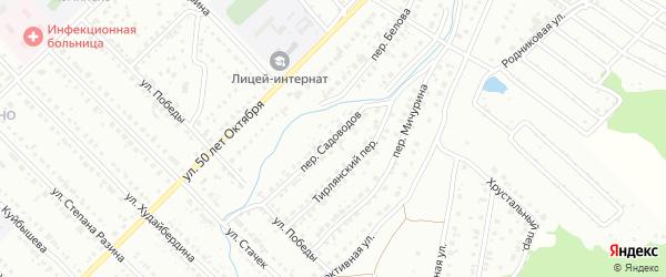 Переулок Садоводов на карте Белорецка с номерами домов