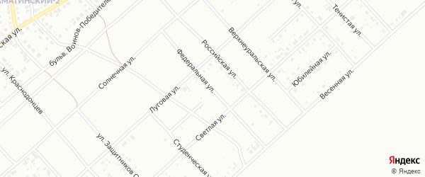 Федеральная улица на карте Белорецка с номерами домов