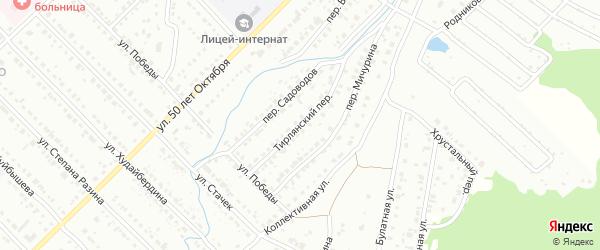 Тирлянский переулок на карте Белорецка с номерами домов