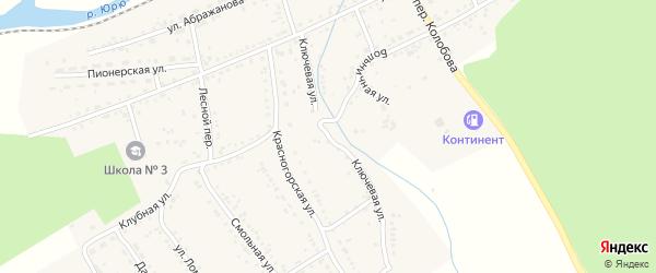 Ключевая улица на карте Юрюзани с номерами домов