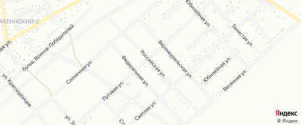Российская улица на карте Белорецка с номерами домов