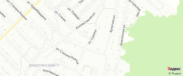 Улица Сурина на карте Белорецка с номерами домов