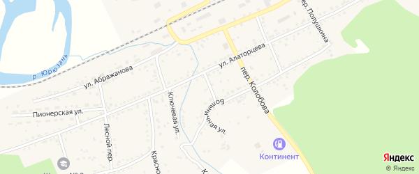 Переулок Сырцева на карте Юрюзани с номерами домов