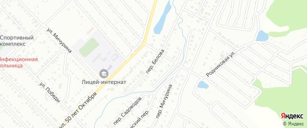 Переулок Белова на карте Белорецка с номерами домов