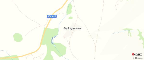 Карта деревни Файзуллино в Башкортостане с улицами и номерами домов