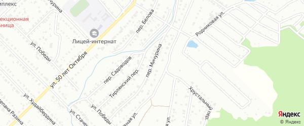 Переулок Мичурина на карте Белорецка с номерами домов