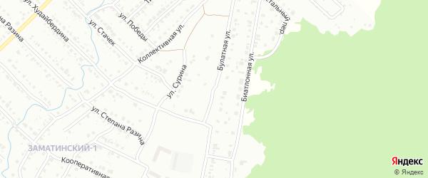 Булатная улица на карте Белорецка с номерами домов