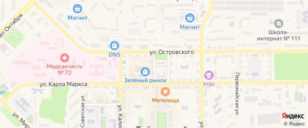 Пионерский переулок на карте Трехгорного с номерами домов