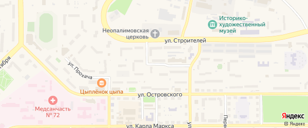 Улица Маршала Жукова на карте Трехгорного с номерами домов