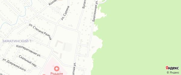 Биатлонная улица на карте Белорецка с номерами домов