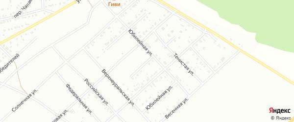 Юбилейная улица на карте Белорецка с номерами домов