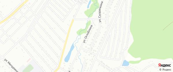 Улица Оглоблина на карте Белорецка с номерами домов