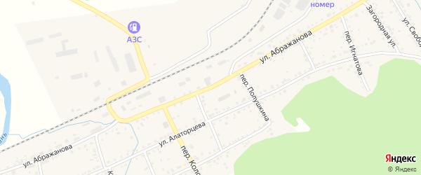 Улица Абражанова на карте Юрюзани с номерами домов