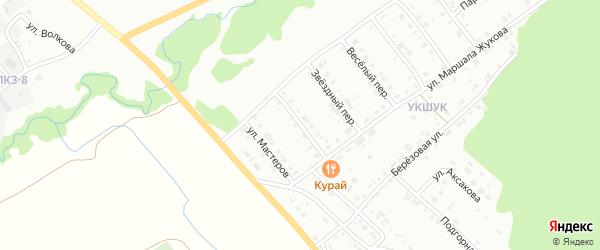 Укшукский переулок на карте Белорецка с номерами домов