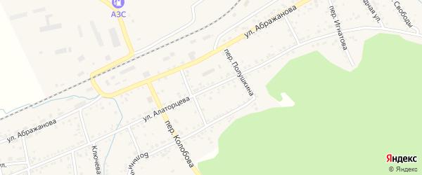 Улица Алаторцева на карте Юрюзани с номерами домов