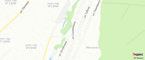 Улица Сызранкина на карте Белорецка с номерами домов