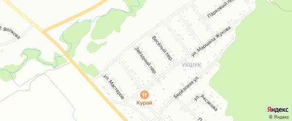 Звёздный переулок на карте Белорецка с номерами домов