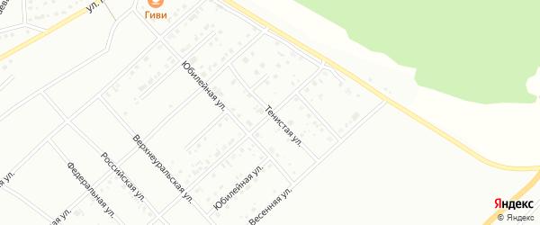 Тенистая улица на карте Белорецка с номерами домов