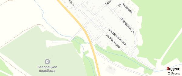 Трактовая улица на карте Белорецка с номерами домов