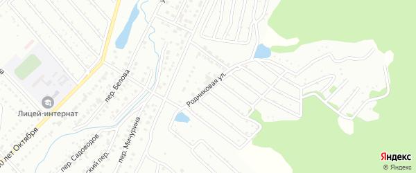 Родниковая улица на карте Белорецка с номерами домов