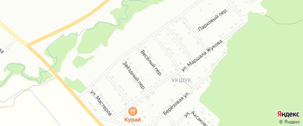 Веселый переулок на карте Белорецка с номерами домов