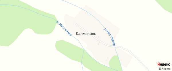 Горная улица на карте деревни Калмаково с номерами домов