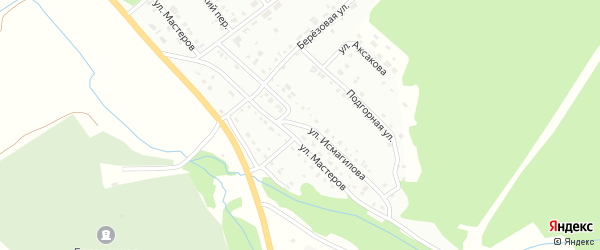 Улица Исмагилова на карте Белорецка с номерами домов