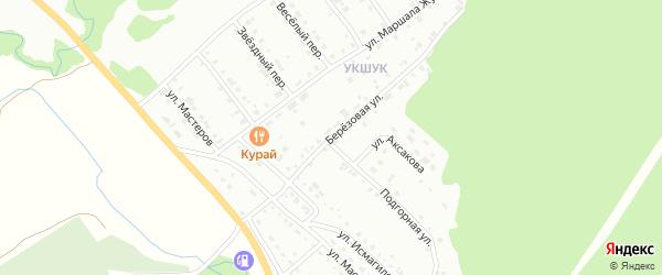Березовая улица на карте Белорецка с номерами домов