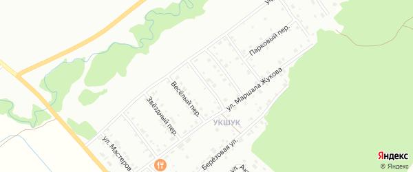 Николаевский переулок на карте Белорецка с номерами домов