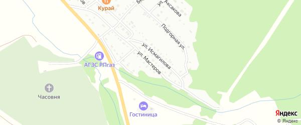 Улица Мастеров на карте Белорецка с номерами домов