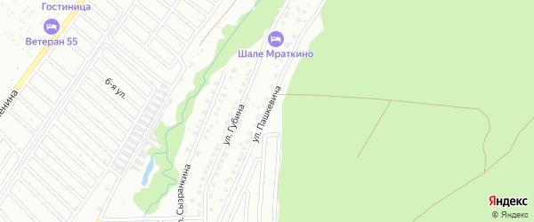 Улица Пашкевича на карте Белорецка с номерами домов
