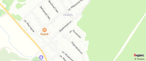 Улица Аксакова на карте Белорецка с номерами домов