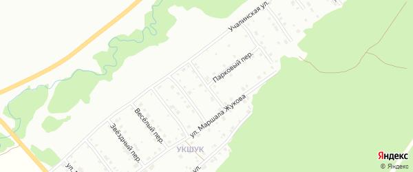 Переулок Механизаторов на карте Белорецка с номерами домов